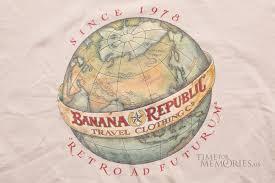 vintage banana republic t shirt 1988 retro ad futurum
