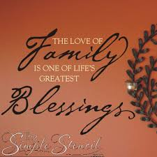 Family Blessings Quote Wall Lettering Decal The Simple Stencil - Family room quotes