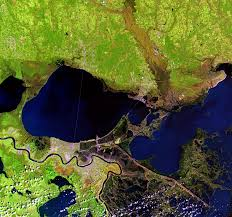 Satellite Map Usa Hurricane Katrina New Orleans Louisiana Usa Earthshots