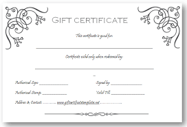 custom gift certificates business gift certificate template beautiful printable gift