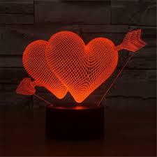 wholesale led under table lights wholesale double heart romantic lighting atmosphere table l