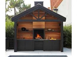comment construire une cuisine exterieure cuisine exterieur bois universal metal jardinage