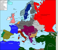 World War 2 Europe Map by War Aims Of World War One Alternate History Discussion