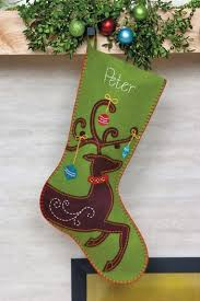 Felt Christmas Stocking Tree Decoration by Best 25 Felt Stocking Ideas On Pinterest Felt Christmas
