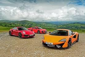 mclaren vs mclaren 570s vs audi r8 v10 plus vs porsche 911 turbo s auto express