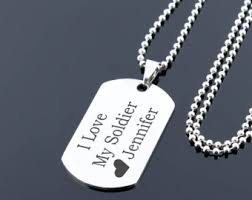 mens dog tags engraved soldier dog tag etsy