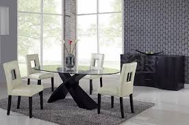 modern dining room set redona cross legs modern dining room set with oval glass top table