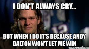 Tom Brady Crying Meme - crybaby