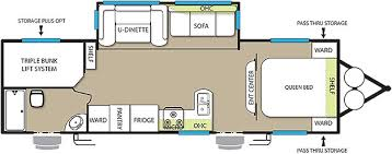 triple bunk travel trailer floor plans new 2016 forest river rv salem 27tdss travel trailer stock 10183