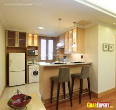 breakfast counter for two in kitchen gharexpert