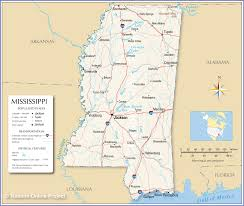County Map Of Mississippi Reference Map Of Mississippi Nations Online Project