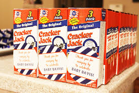 personalized cracker jacks party recap baseball baby between the sheets co