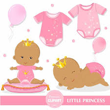 art twins baby shower clipart collection african american princess