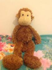 Little Jellycat Comforter Brown Monkey Little Jellycat Comforter Blankie Blanket Hug Toy