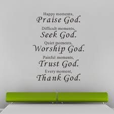 online shop bible wall stickers home decor praise seek worship