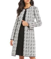 calvin klein plaid jacquard topper jacket dillards