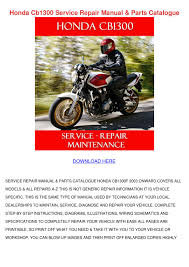 honda cb1300 service repair manual parts cata by mathilde fellin