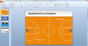 free basketball court diagram for powerpoint free powerpoint