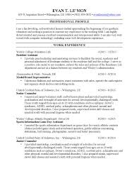 Resident Assistant Job Description Resume Resume Evan Le U0027mon U0027s Portfolio