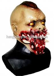 Zombie Mask Selling Costume Props Zombie Mask Halloween Rubber Latex Scary