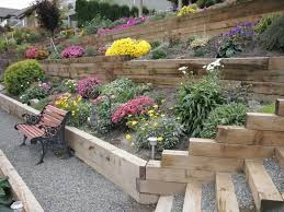 outside landscaping with railroad ties wearefound home design