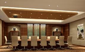 interior design meeting room with chinese retro woodworking