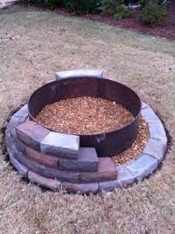Firepit Blocks Pit Building A Pit With Retaining Wall Blocks Simple