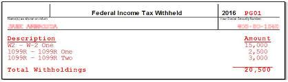 drake16 federal withholding worksheet
