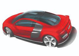 Audi R8 Diesel - audi r8 tdi le mans brillant red concept drawing eurocar news