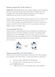 membuat jaringan wifi lancar membuat jaringan wi fi ad hoc windows 7