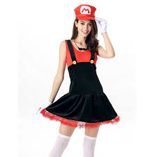 Mario Luigi Halloween Costumes Couples Woman Super Mario Bros Couples Costume Female Mario Luigi