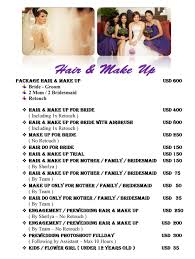 bridal makeup package wedding makeup packages wedding corners