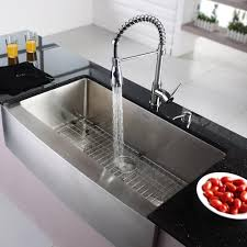Kitchen Faucet And Sink Combo Kraus Khf20036kpf1612ksd30ch 36 Inch Farmhouse Single Bowl