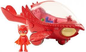 pj masks deluxe owl glider vehicle owlette figure kids