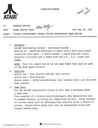 Memo Generator - mike hally s gravitar binder original atari documents
