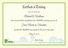 certificate of training template 6 free training certificate