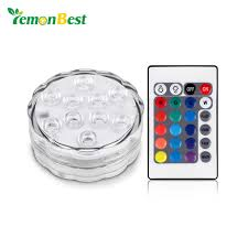 best submersible pond lights rgb 10 led submersible light battery operated ip68 waterproof