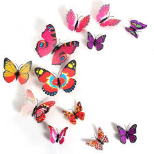 amazon com 2013newestseller 12pcs colorful 3d butterfly sticker