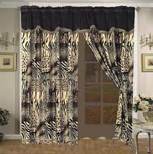 Leopard Print Shower Curtain by 7 Pc Multi Animal Print Black Brown Tan And Charcoal Grey