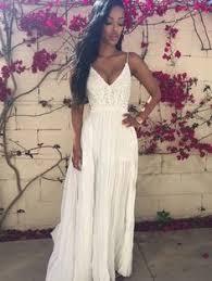 sundress wedding dress simple halter neckline open back summer wedding dress outdoor