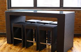 High Bar Table And Stools High Top Table Sets To Create An Entertaining Dining Space Homesfeed