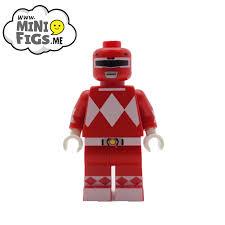 custom designed red ranger minifigure minifigs