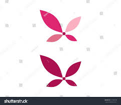 lotus butterfly logo stock vector 671196178