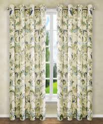 Floral Curtains Brissac Floral Grommet Curtain Valance Collection Paul S Home