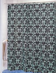 Chocolate Brown Shower Curtain Carnation Home Fashions Inc Damask Fabric Shower Curtains