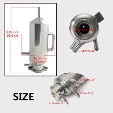 universal 350ml aluminum radiator coolant catch tank overflow