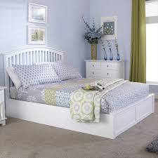home decoration bedroom oak finish wooden storage bed light wood