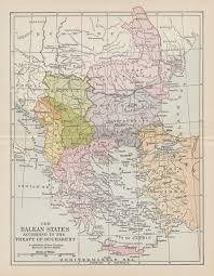 Balkan States Map by Balkans