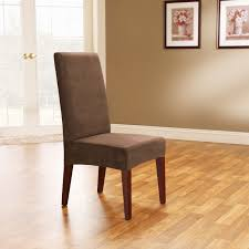 dining room stretch brown velvet dining room chair cover with
