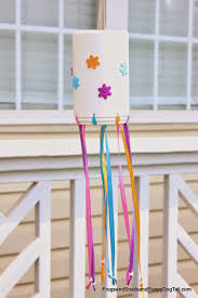 diy tire obstacle course wind chimes craft and activities